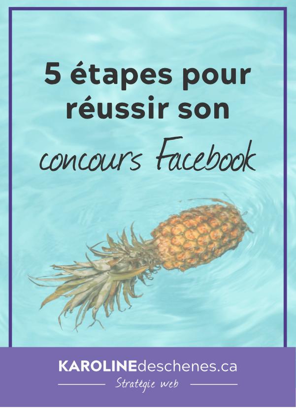 Pin l'article! 5 étapes pour réussir son concours facebook